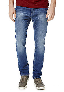 F&F Stretch Slim Tapered Jeans - Mid wash