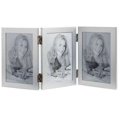 VonHaus Photo Frame - Aluminium - Triple Portrait Multi Picture