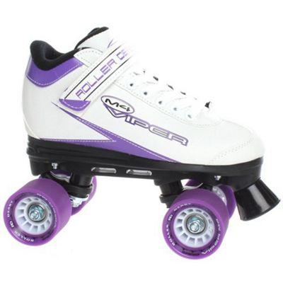 Roller Derby Roller Derby Mens/Womens Viper M-4 Quad Roller Skates Black Or White UK4 - UK11