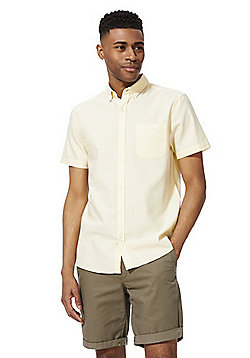 F&F Short Sleeve Oxford Shirt - Pale Yellow