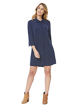 F&F Tencel®-Blend Shirt Dress - Navy