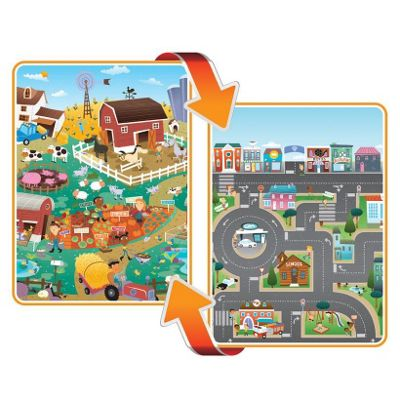 Prince Lionheart Giant Double Sided PlayMAT City and Farm 190x170cm
