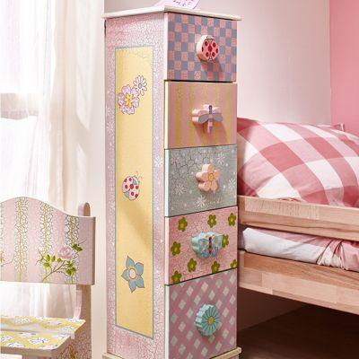Fantasy Fields Children Pink Wooden Drawer Cabinet Tidy Bedroom Storage W-4663JR