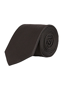 F&F Textured Regular Width Tie - Black