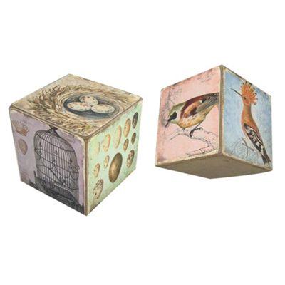 Vintage Wooden Tumbling Box Width: 11cm