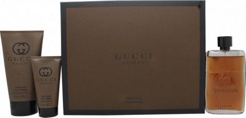 Gucci Guilty Absolute Gift Set 90ml EDP + 50ml Aftershave Balm + 150ml Shower Gel For Men