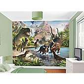 Walltastic Dinosaur Land Wall Mural 8 ft x 10 ft