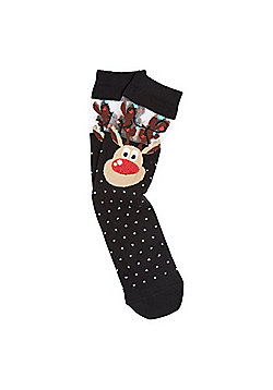 F&F Reindeer Ankle Socks - Multi
