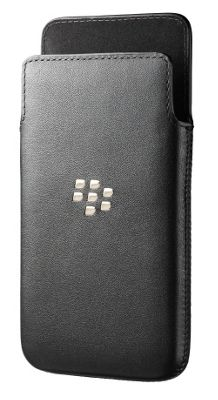 BlackBerry Leather Smartphone Pocket for BlackBerry Z10 - Black