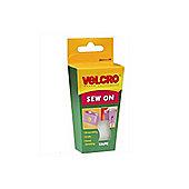 Velcro Sew-On Tape 1m x 20mm White