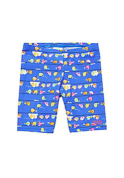 Zoggs Pretty Bird Print Swim Shorts - Blue