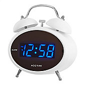 Acctim 14782 Dexter Double Bell Alarm Clock - White