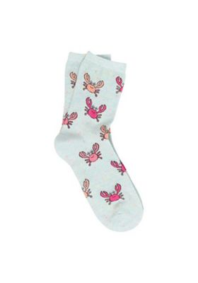 F&F Happy Crab Ankle Socks Multi One Size
