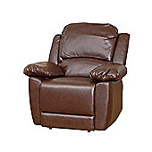 Sofa Collection Lucerne Recliner Armchair - 1 Seat - Brown