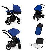 ickle bubba Stomp V2 AIO/Buggy Lights/Mosquito Net Travel System - Blue (Black Chassis)