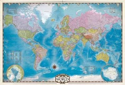 Map of the World - 2000 pieces Puzzle