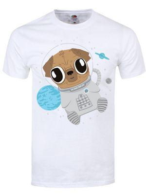 Pugs In Space Men's White T-shirt