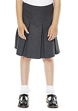 F&F School Girls Permanent Pleat School Skirt - Grey