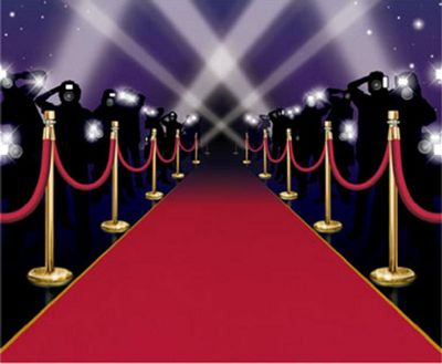 Hollywood Star Attraction Red Carpet Instant Mural