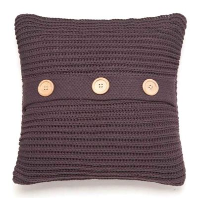 Catherine Lansfield Home Chunky Knit Cushion Cover (45x45cm) - Charcoal
