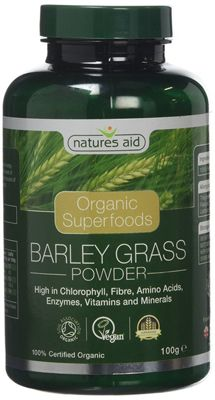 Natures Aid Organic Barley Grass Powder - 100g