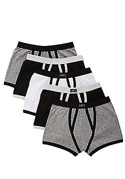 F&F 5 Pack of Monochrome Trunks - Multi