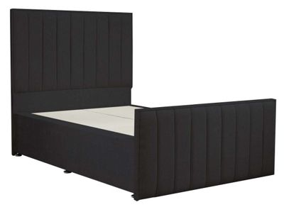 Luxan Hampstead Dun Colours Bed Frame - Charcoal - Small Single 2ft6