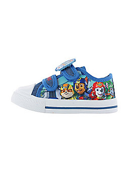 Boys Paw Patrol Pup Heroes Blue Canvas Trainers Sports Shoes Childrens Shoes UK Sizes 5-10 - Blue