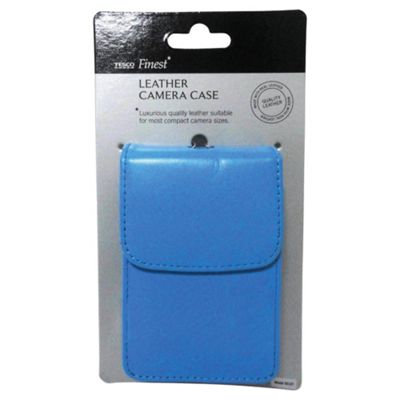 Tesco Finest Leather Camera Case, Blue