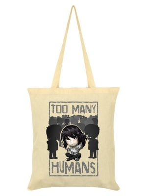Too Many Humans Cream Tote Bag