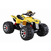 BIG Ride On Electric Raptor Quad Bike 12V Yellow