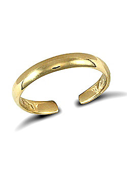 Jewelco London 9ct Solid Gold d-shape Toe Ring