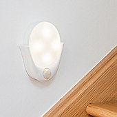 Warm White LED Battery PIR Motion Sensor Wall Light