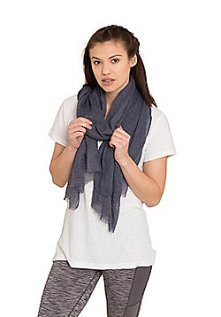 Zakti Womens Ocean Breeze Lightweight Casual Styling Scarf in Woven Design - Blue
