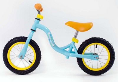 RideonToys4u 12 Inch Balance Bike With Air Wheels Light Blue Ages 3-6 Years