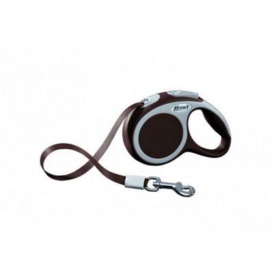 Flexi Vario S Extending Dog Lead - Brown (Tape) 3m