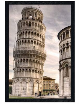 Black Wooden Framed Leaning Tower Of Pisa Poster