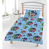 Disney Pj Masks 'Badges' Reversible Rotary Junior Cot Bed Duvet Quilt Cover Set