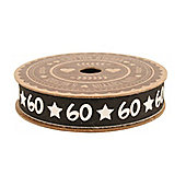 60th Birthday Gift Wrapping Ribbon