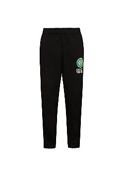 Celtic FC Boys Slim Fit Jog Pants - Black