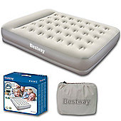 Restaira Queen Airbed With Inbuilt Pillow & Pump