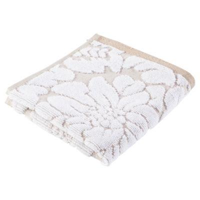 Tesco Grey White Jacquard Face Cloth