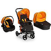 Hauck Malibu 4S Trio Set (Caviar/Orange)
