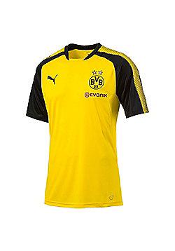 Puma Borussia Dortmund BVB 2017/18 Mens Football Training Jersey Shirt - Yellow