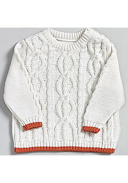 Natures Purest My First Friend - Cable Knit Jumper - Cream