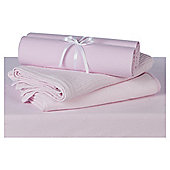 Tesco 4 Pack Baby Bedding Bumper Set,  Pink