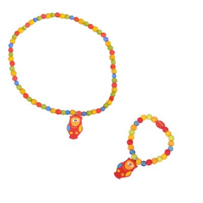 Tatiri Owl Bracelet and Necklace (Brown Owl)