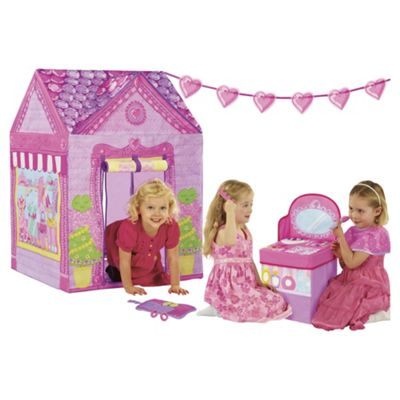 Love my Street Little Miss Boutique Playhouse Tent with Vanity Counter