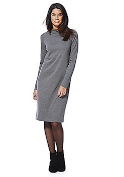 Vila Jersey High Neck Dress - Grey