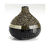 Mika Mosaic Small Vase Black/Gold